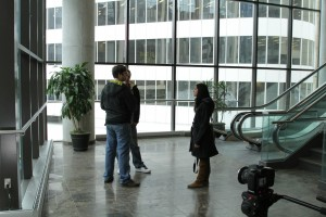 Jay Ferguson, Supinder Wraich, Dan Fox at Ryerson University Toronto, Production Stills | Guidestones Web Series