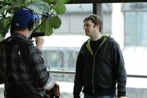 Jay Ferguson at Ryerson University Toronto, Production Stills | Guidestones Web Series